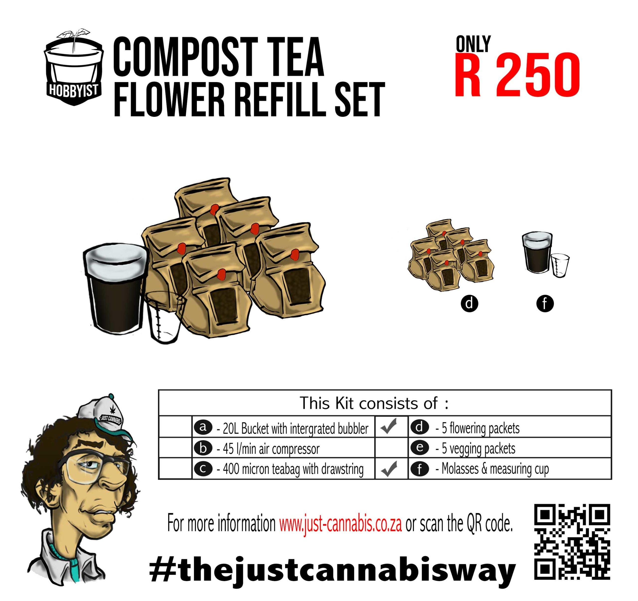 Hobbyist Compost Tea Flower Refill Kit