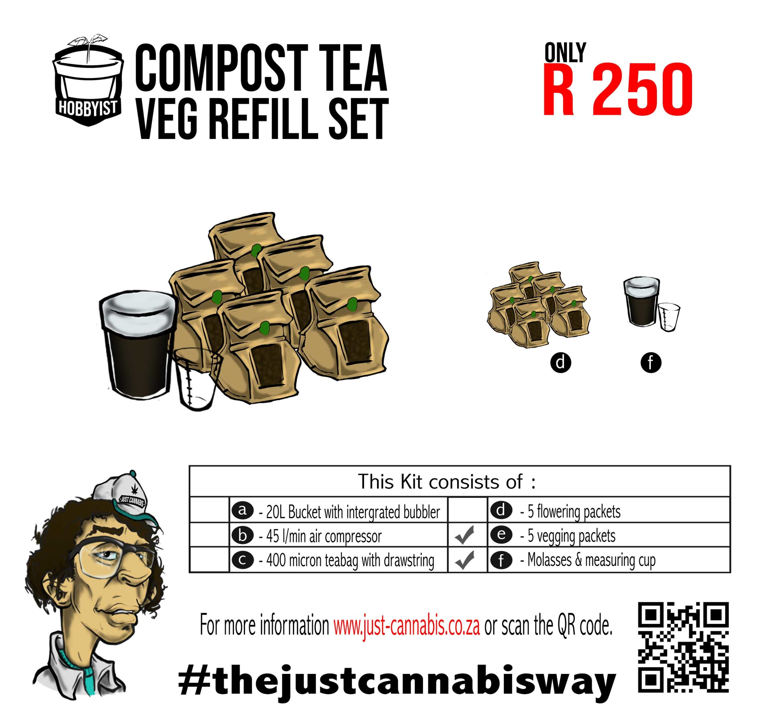 Hobbyist Compost Tea Veg Refill Kit