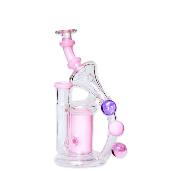 Pink Beaded Dab Rig